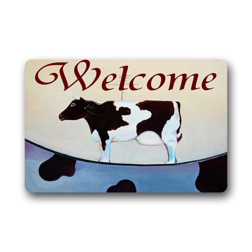 Memory Home New Arrival Cute Cow Welcome Doormat Entrance Floor Mat Kitchen Mats Living Room Bath Carpet Bedroom Rugs