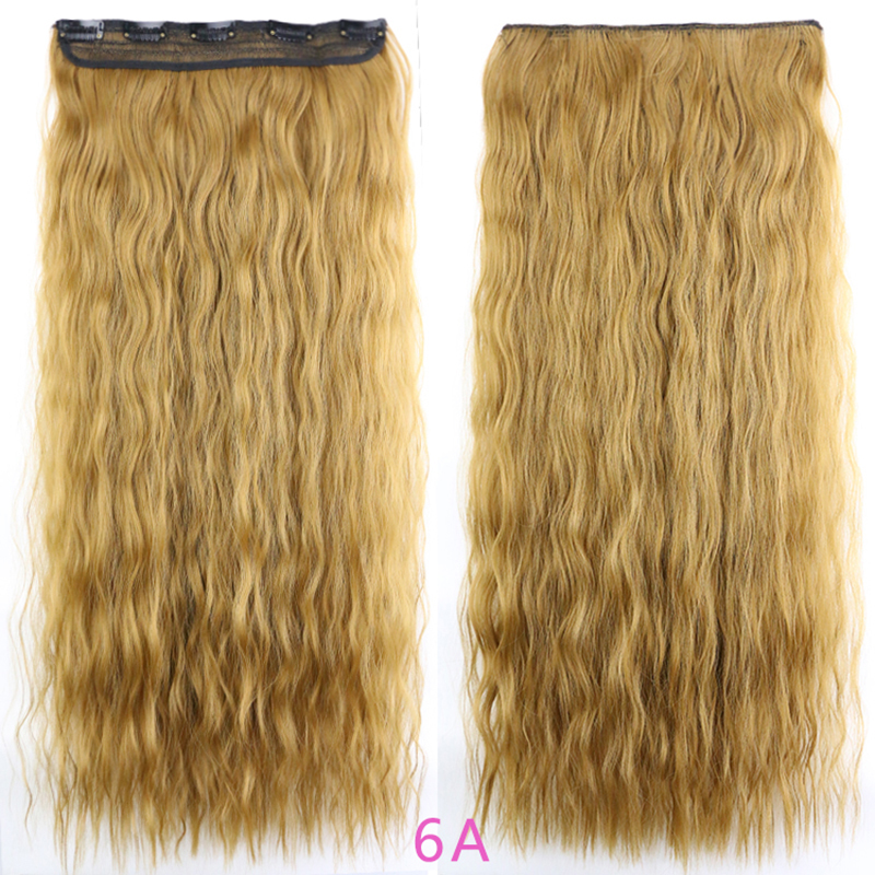 Aliexpress buy 5clips in long fluffy curly big wavy popcorn aliexpress buy 5clips in long fluffy curly big wavy popcorn hair extensions pretty hairpieces 24inch 110g white color from reliable hair extension pmusecretfo Image collections