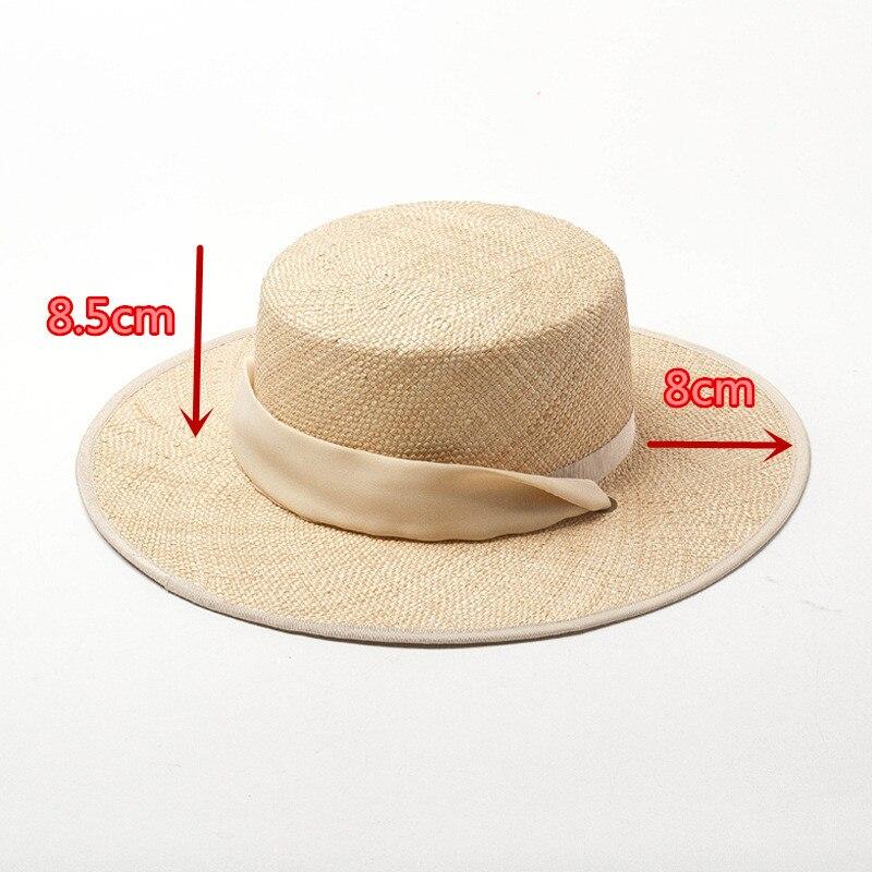 01901-HH7321 2019 nuevo diseño verano tesoro hierba tejido a mano Cinta Larga vacaciones Fedora gorra mujer ocio playa sombrero - 2