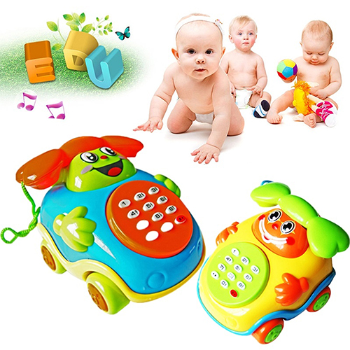 Kids Child Lovely Music Cartoon Phone Car Educational Developmental Gifts Toy
