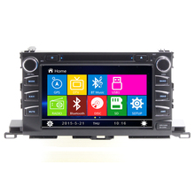 Free Shipping 8 inch Car audio For 2015 TOYOTA HIGHLANDER car dvd gps with car video dvd Bluetooth SD USB,Free 8GB map card