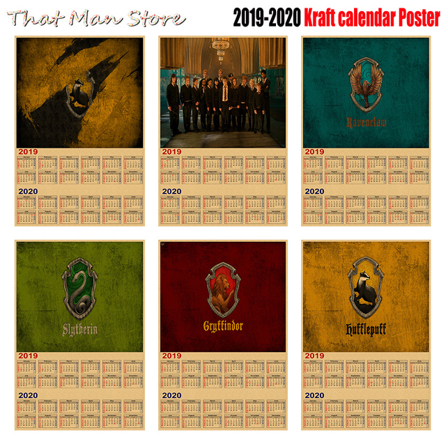 2020 Calendars For Sale Hot Sale Harry potter 2019 2020 calendar poster Vintage Antique