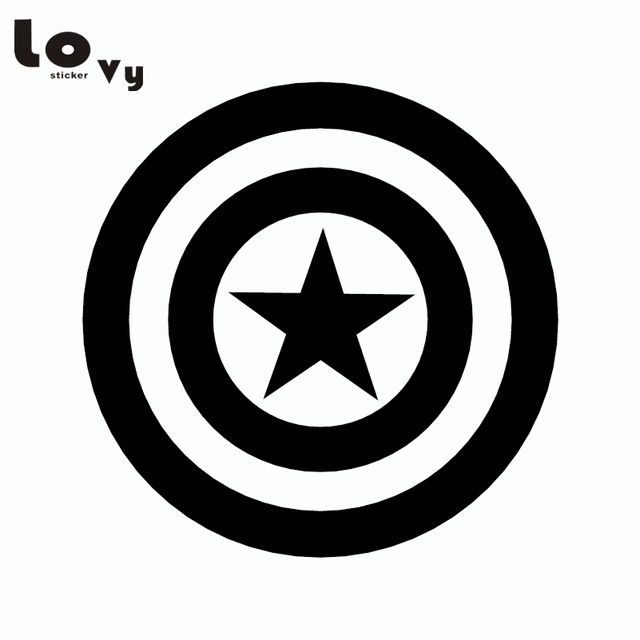 Captain america shield car sticker superhero vinyl car decorative decal