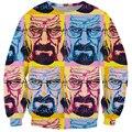 Mulheres / homens de moda 3d camisola graffiti estilo hoodie pullovers heisenberg breaking bad walt warhol crewneck hoodies outerwear