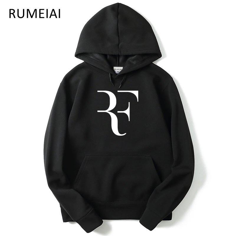 2018 autumn Hoodies Men Fashion roger federer hooded Perfect Letters Design sweatshirt long Sleeve Slim fit Hoodies Jacket Male