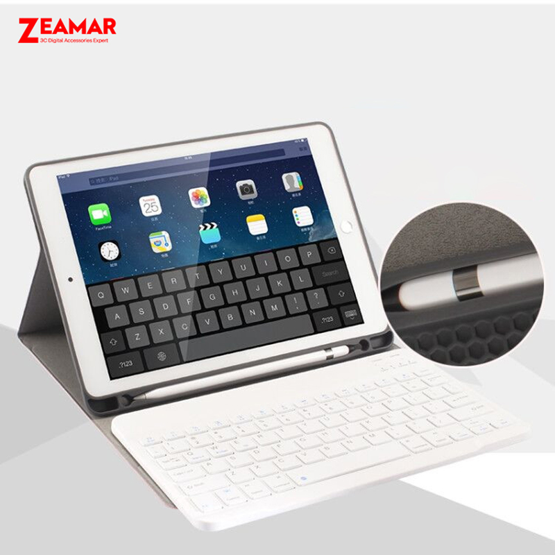 the latest e7e8f b8613 US $15.84 34% OFF|Smart Keyboard Case For Apple iPad Pro 9.7 inch 2016 With  Apple Pencil Holder Leather Magnetic Cover For iPad Case Pro 9.7 Funda-in  ...