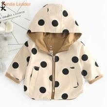 Bebê meninas jaqueta e casaco primavera meninos com capuz blusão jaqueta polka dot 2 lados usar criança crianças jaqueta outerwear roupas
