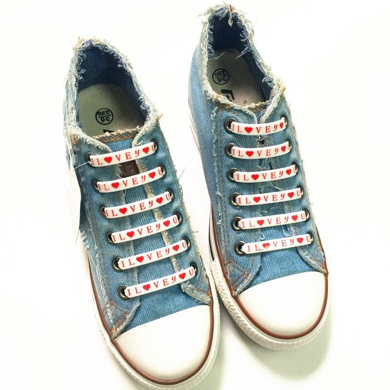 Perezoso Tie Diseño Corazón Unids Al 6 Correr Cm 5 No 480 40 Estrella Unidades Por Sneakers Para Y Mayor Cuerdas Silicona Cordones Zapatos vtFZFxOw