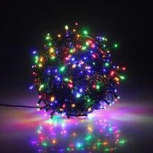 10 м, 20 м, 30 м, 50 м, 100 м, 24 В, безопасный зеленый кабель, светодиодные гирлянды, рождественские сказочные огни для рождественских елок, вечеринок, свадебных мероприятий