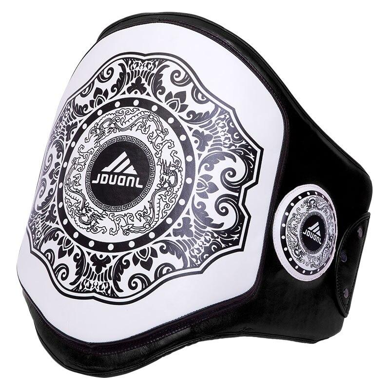JDUanL Muay Thai Boxing Belly Pad Waist Training Belt MMA Sanda Karate Taekwondo Guards Brace Chest Trainer Fight Protector DEO