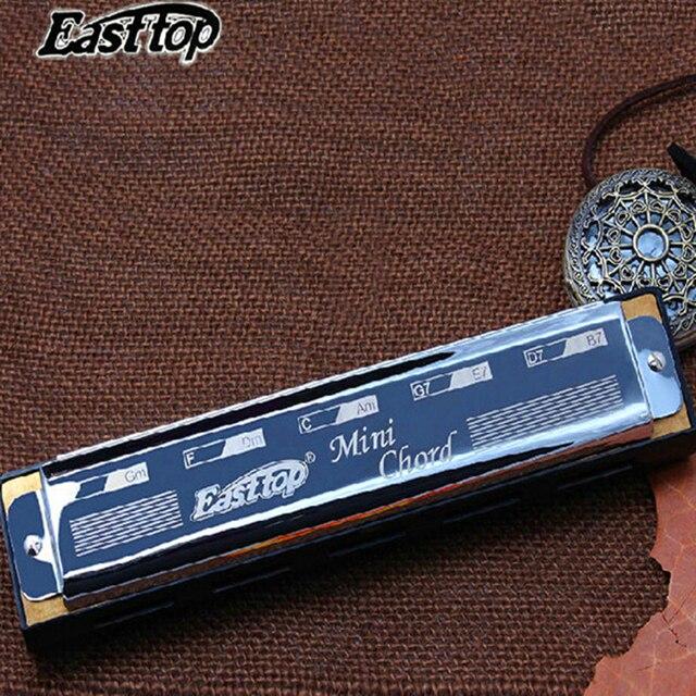 Easttop Mini Chord Harmonica Harps Silver Pocket Chord Armonica