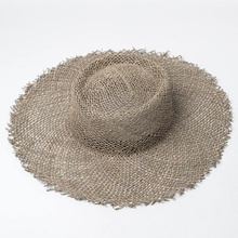 2019 New women Natural Sun hat Breathable straw hats summer wide brim beach hat Fashion Jazz straw hat H4