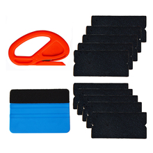 EHDIS Vinyl Film Car Wrap Tools Kit Squeegee With 10pcs Fabric Felt Cloth Snitty Safety Vinyl Cutter Window Tints Tool