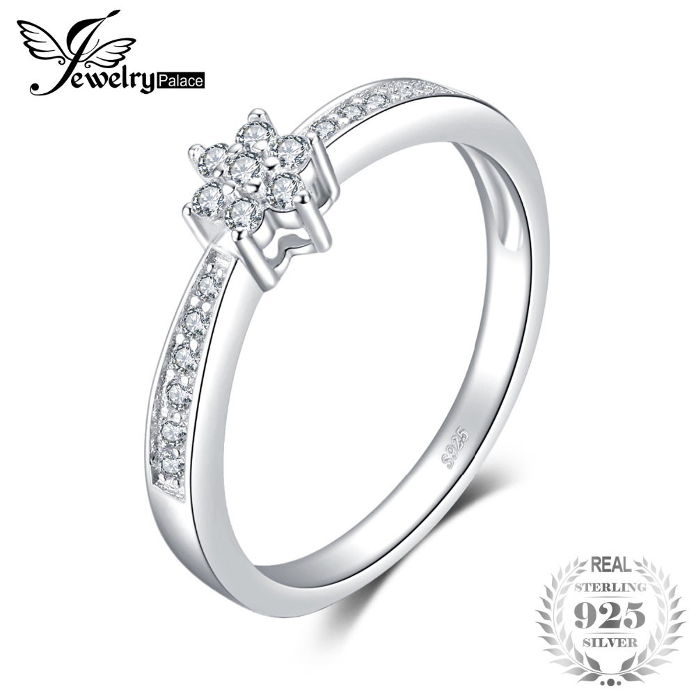 JewelryPalace Classic Fashion Engagement Ring 925 Sterling Silver Jewelry Birthday Present For Girlfriend Fine Gift Women