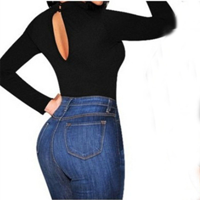 Jumpsuit Sexy Lady Long Sleeve Backless Skinny Slim