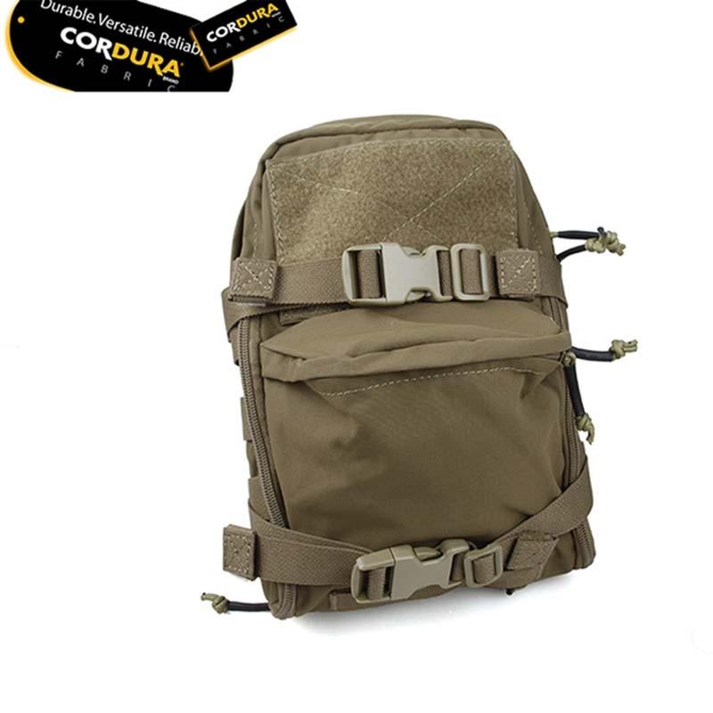 Tactical Matte CB Black Mini Hydration Bag Pouch JPC MOLLE Vest Water Bag