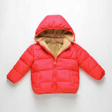 Winter Clothing Girls Down Parkas Solid Thicken Coats Hooded Warm Cotton Kids Costume Baby Boys Clothes For Newborn 1-8t 5dp009