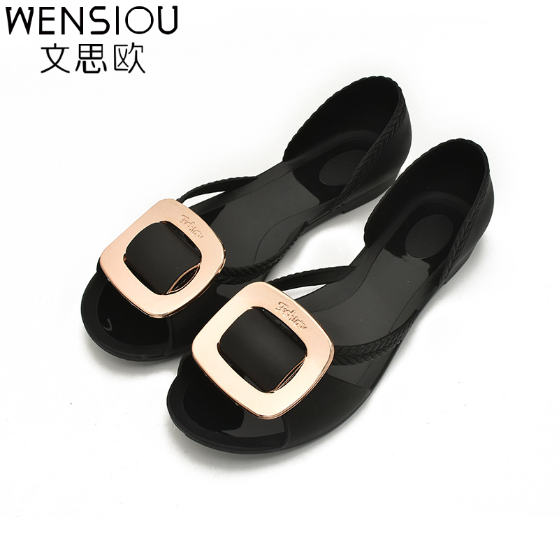 New summer Women's Shoes flat Sandals Jelly Shoes fashion Woman Casual Shoes Lady sweet party  Sandalias 7-bt581