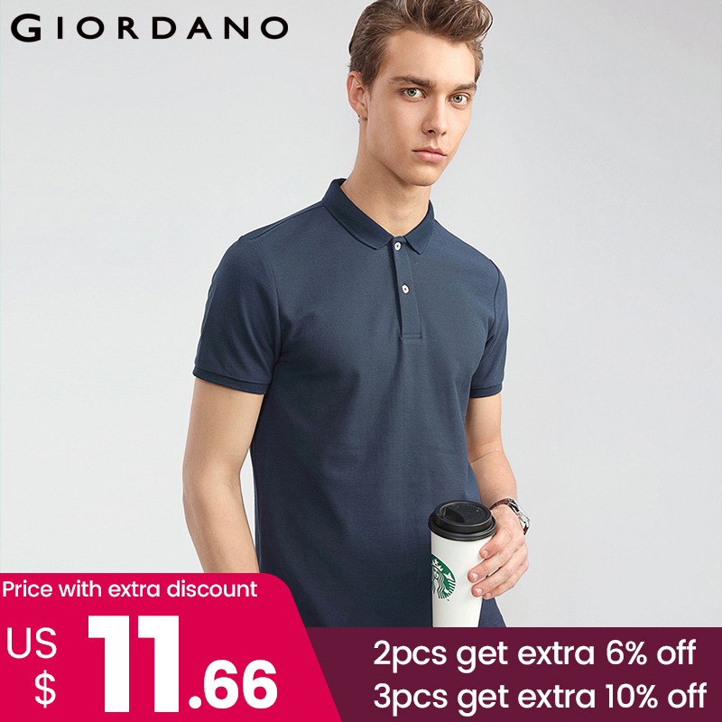 Giordano Men Solid   Polo   Shirt Men Pique Slim Mens   Polo   Basic Essential Tops Male Camisa   Polo   Camiseta Masculina