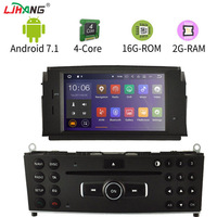 LIHANG Android 7.1 Car DVD Multimedia Player For Mercedes Benz C200 C180 W204 2007 2013 GPS Radio headunit Stereo WIFI 2G+16G