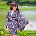 Summer Matsuri Women Half Sleeve Goldfish Print Haori Kimono Yukata Coat Outwear