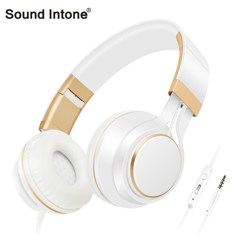 Sound Intone i58 Stereo Headphones With Mic Handsfree For Call Subwoofer Fashion Strong bass Wired Headset Foldable For Phone PC