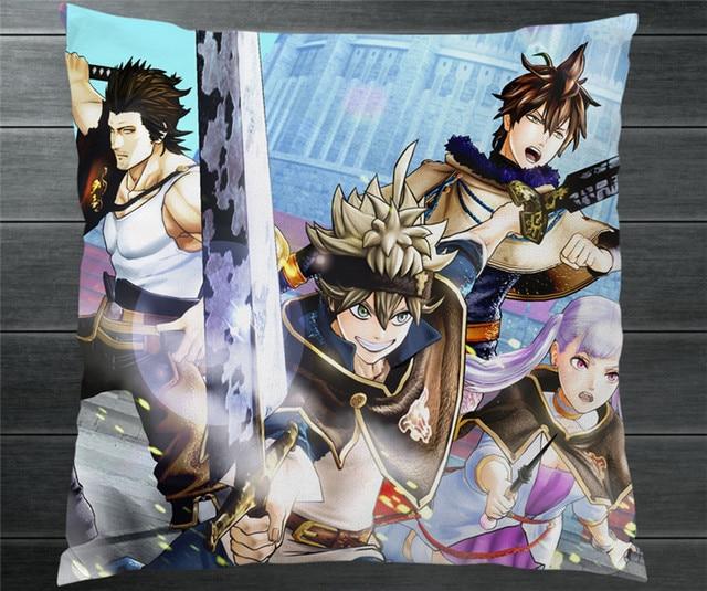 71b53401dede2 Anime Black Clover Asta Yuno Noelle Silva Fan Art Two Side Pillowcase  Pillow Case Cover Cosplay