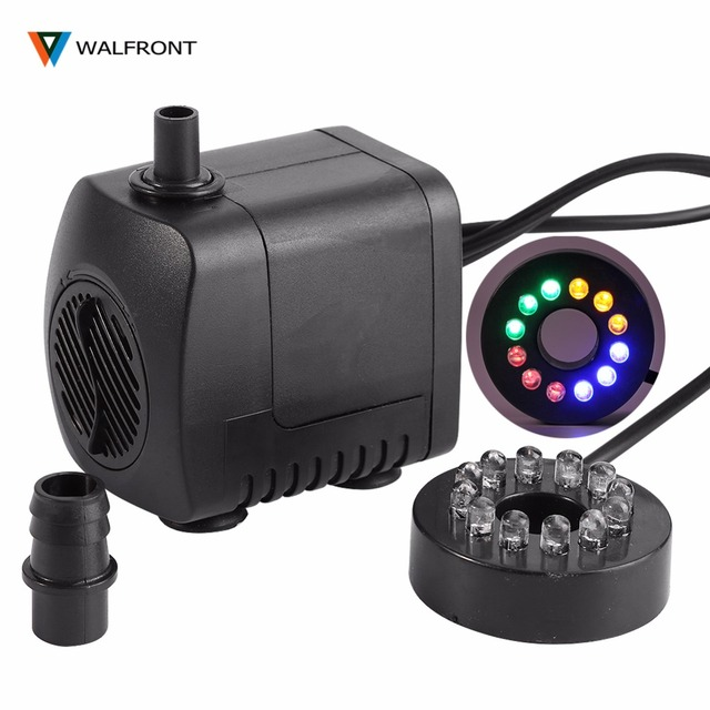 Waterpomp Voor Rotstuin Fontein, Aquarium Decor, 15 W En 12 Led ...