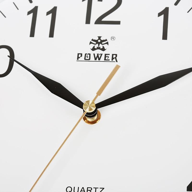 전원 브랜드 10 인치 / 12 인치 벽 시계 자동 석영 - 가정 장식 - 사진 4