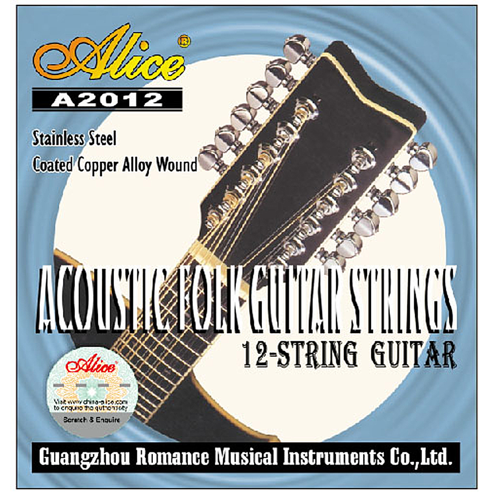 Alice 12 Strings Guitar Strings for 12 strings Acoustic Guitar Stainless Core Coated Copper Alloy Wound A2012 savarez 510 cantiga series alliance cantiga normal high tension classical guitar strings full set 510arj