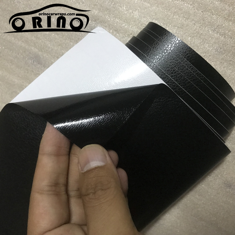 Image 3 - 3D PVC DIY Car Styling Interior Dashboard Sticker Black Leather Texture Trim Vinyl Wrap Sheet Film Sticker 10/20/30/40/50X152CM-in Car Stickers from Automobiles & Motorcycles