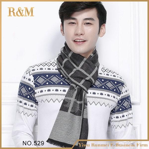 aedc68f9f3b scarf thermal scarf male autumn winter scarf boys male plaid scarf ...