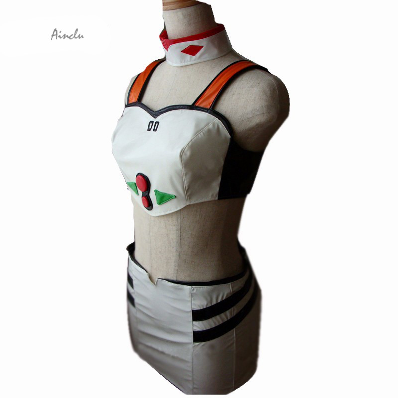 Ainclu Free Shipping Neon Genesis Evangelion Ayanami Rei Show Girls Cosplay Costume Anime Costume For Halloween Christmas