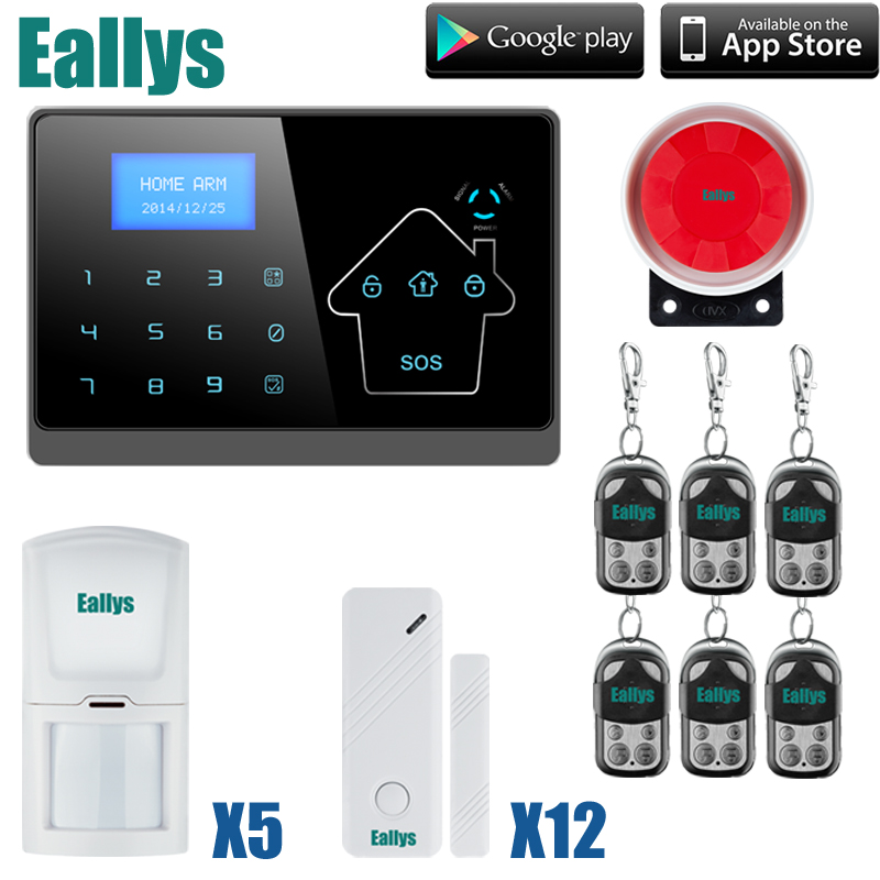 Wireless text LCD Touch Screen GSM Alarm System Autodial Home House Office Intruder Security Guard new safurance wireless lcd gsm sms autodial alarm security home house burglar intruder system home safety alarm mainframe kits