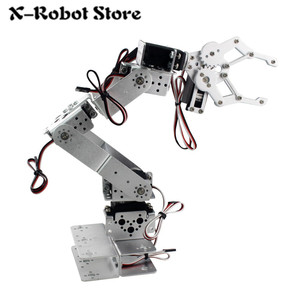 DIY 6 DOF Robot Manipulator Metal Alloy Mechanical Arm Clamp Claw Kit LDX-335MG MG996R Servo with Arduino RC Parts robot