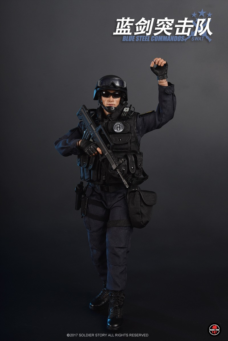 1/6 scale military figure Blue Steel Commandos SWAT Beijing China 12 Action figure doll Collectible Model plastic toy 1 6th scale military figure collectible model plastic toy blue steel commandos swat beijing china 12 action figure doll