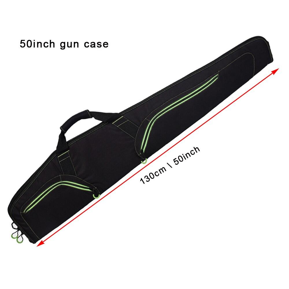 Nuevo estilo suave 50 ''Rifle pistola negro caso táctico pistola bolsa accesorios caza de Airsoft funda de