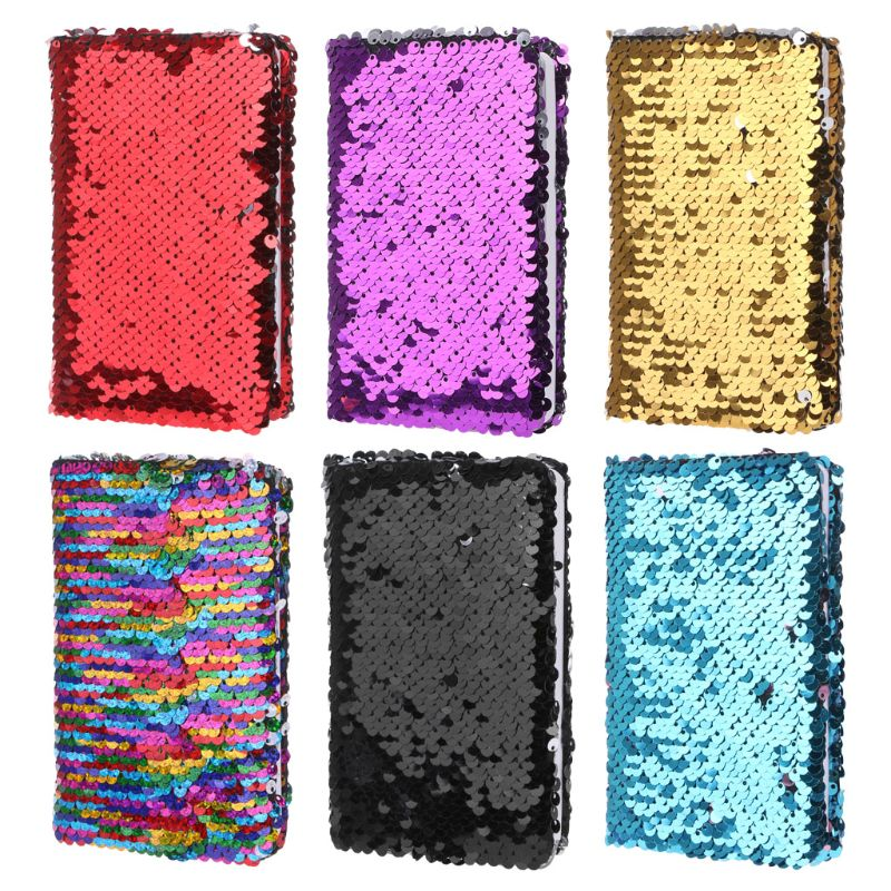 Creative Sequins Notebook Notepad Glitter Diary Memos Stationery Office Supplies Stationery 78 Sheets