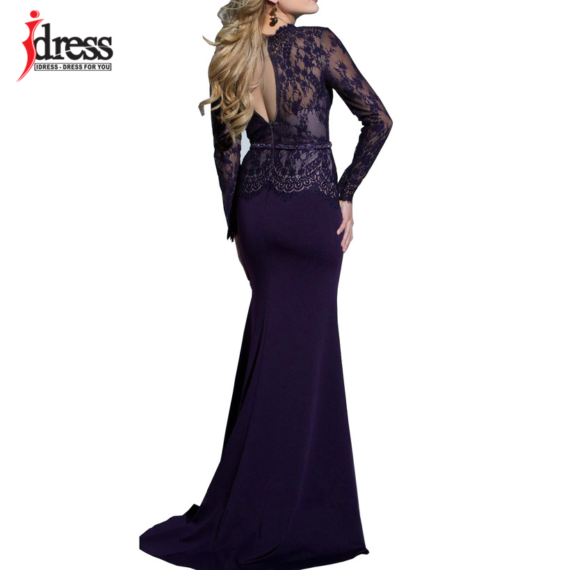 IDress New Sexy Lace Vintage Mermaid Elegant Long Maxi Dress Formal Party Women Gown Special Occasion Dresses 2018 Vestido Longo (2)