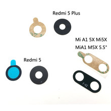 For Xiaomi Mi A1 5X Mi5X Mix 2S Max Redmi Note 3 4 5A 7 5 8 6 Pro 6X Plus Rear Back Camera Glass Lens Cover With Sticker Glue(China)
