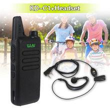 Mini Microphone 2-Way 16CH FM KD-C1 UHF 400-470 MHz MINI Two Way Radio