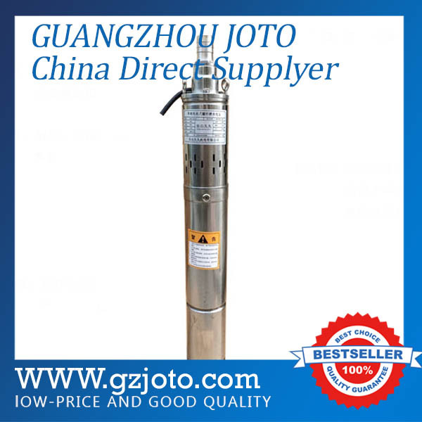 Household 50M Lift Stainless Steel Screw Submersible Water Pump AC Power Deep Well Pump For River Model:QGD-1.2-50-0.28