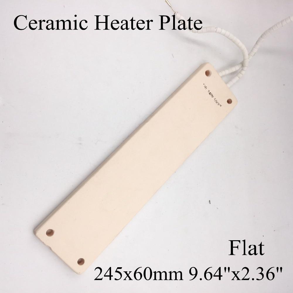 220V 245x60mm Flat Vacuum Injection Molding Machine Repair Far-infrared IR Ceramic Heating Plate Air Ceramic Heater Board Pad