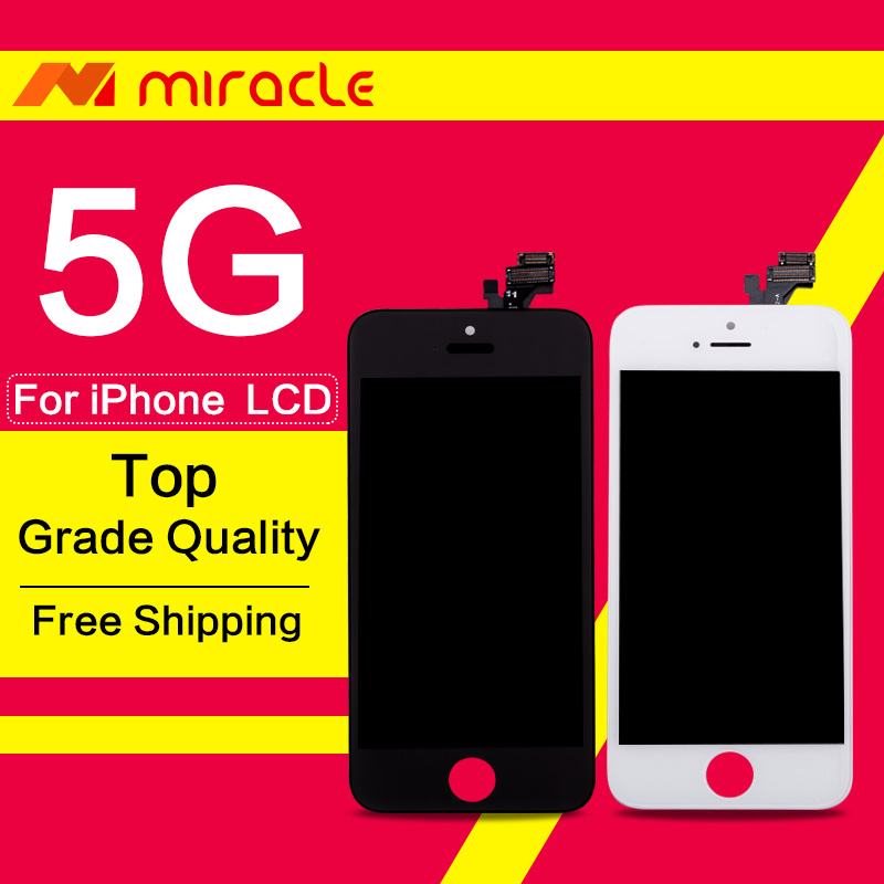 Prix pour Haute qualité lcd pour iphone 5 5c 5s affichage complet écran tactile digitizer assemblée remplacement livraison gratuite