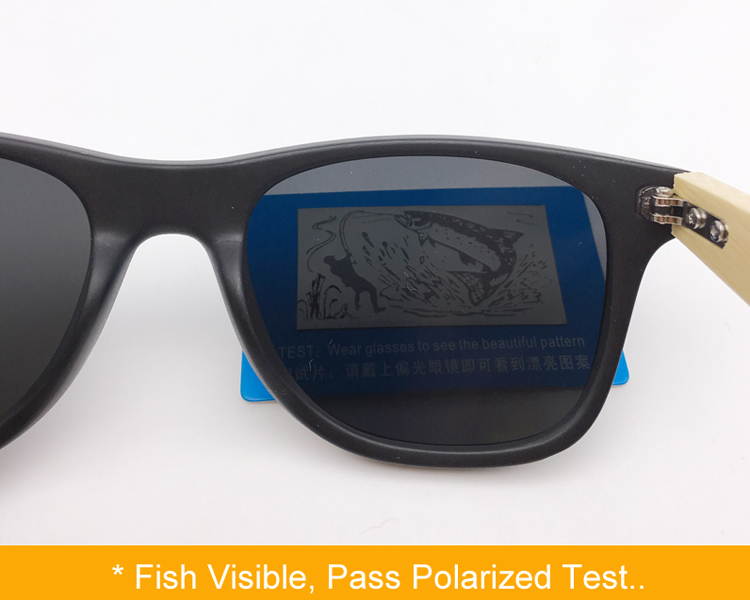 Ralferty Quality Bamboo Sunglasses Polarized Women Men Mirrored Black Sunglass Male Sun Glasses Driver Shades Real Wood Eyewear