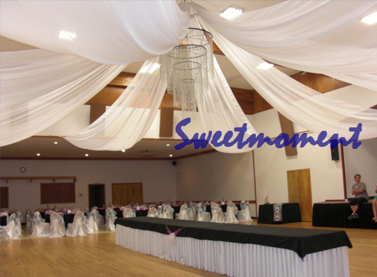 White Luxury Wedding Ceiling Draper Canopy Drapery for decoration wedding fabric Roof decoration & White Luxury Wedding Ceiling Draper Canopy Drapery for decoration ...