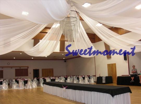 Weiss Luxus Hochzeit Decke Draper Baldachin Vorhang Fur Dekoration