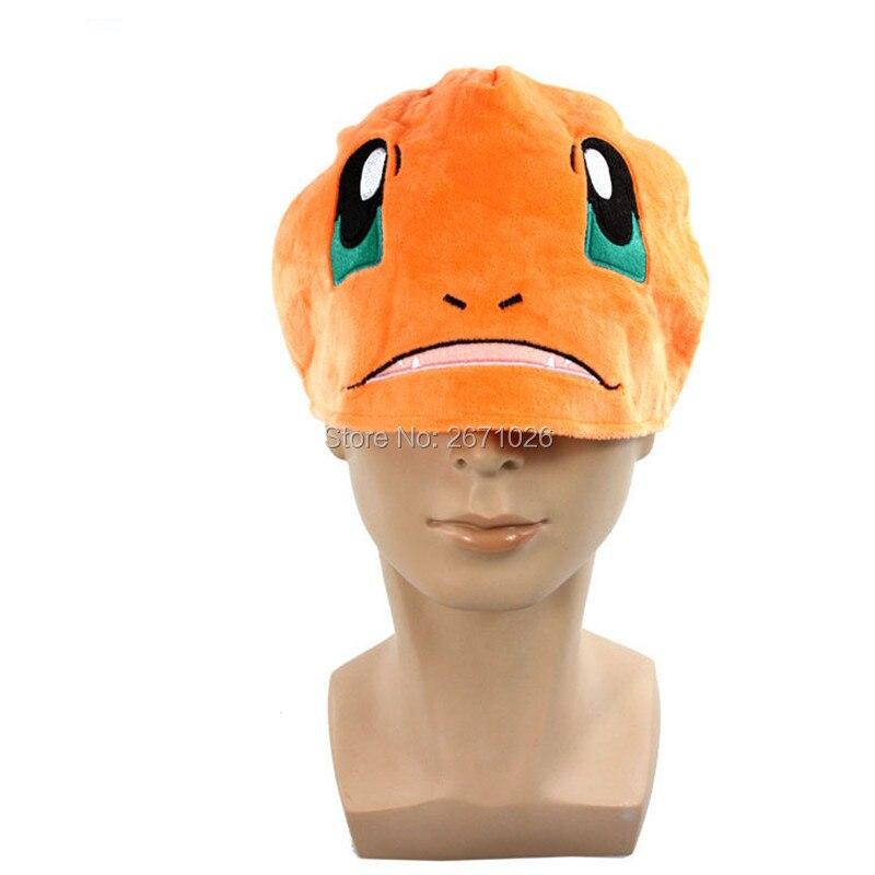34cm Charmander Plush Winter Beanies Cosplay Cap Stuffed Plush Toy Hat