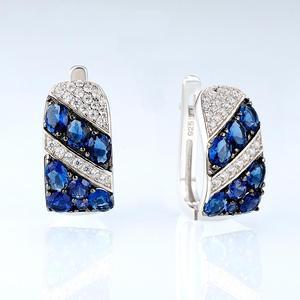 Image 3 - SANTUZZA Silver Earrings For Women 925 Sterling Silver Stud Earrings Silver 925 with Stones Cubic Zirconia brincos Jewelry