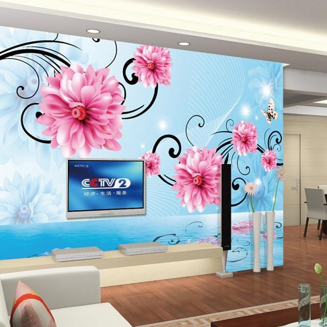 Luxury 3d Stereoscopic Wallpaper Custom Size Tv Background Vinyl Living Room Walls Decor